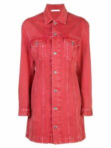 Helmut Lang button-up shirt dress - Red