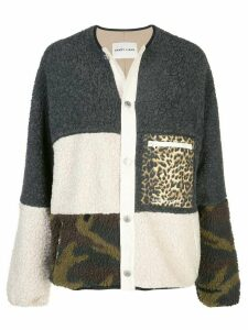 Sandy Liang patchwork knit cardigan - Grey