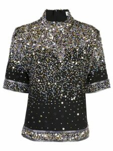 Leonard Petula beaded top - Black
