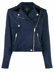 Armani Exchange short biker jacket - Blue