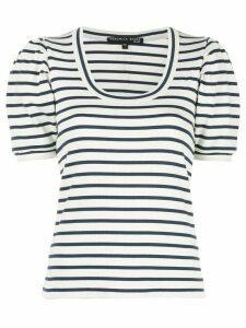 Veronica Beard striped scoop neck T-shirt - White