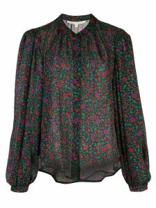 Veronica Beard floral-print silk blouse - Black