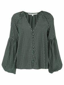 Veronica Beard Valentin geometric-print blouse - Green