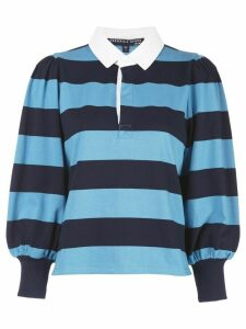 Veronica Beard block striped polo shirt - Blue