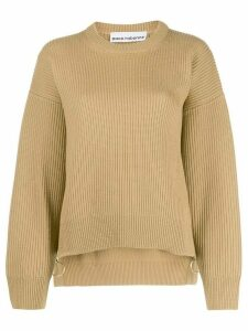 Paco Rabanne ribbed knit jumper - NEUTRALS
