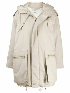 Katharine Hamnett London oversized hooded parka - NEUTRALS