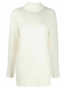Blumarine crystal embellished jumper - White