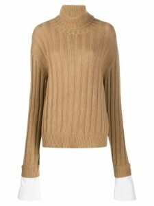 Jejia ribbed turtleneck jumper - NEUTRALS