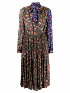 Junya Watanabe floral-print pleated dress - Green