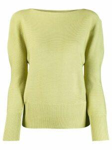 132 5. Issey Miyake knitted sweatshirt - Green