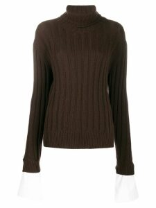 Jejia ribbed knit jumper - Brown