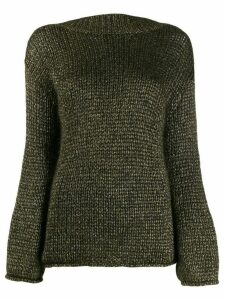 Forte Forte metallic-thread relaxed-fit jumper - Green