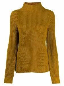 Gentry Portofino ribbed knit jumper - Yellow