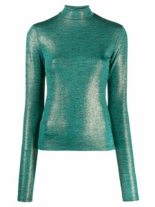 Andamane Beth metallic slim-fit top - Green