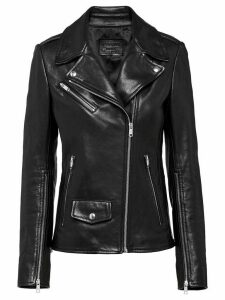 Prada nappa leather biker jacket - Black