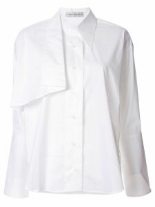 Palmer / Harding long-sleeved Altered shirt - White