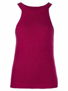 Jejia ribbed-knit tank top - PINK