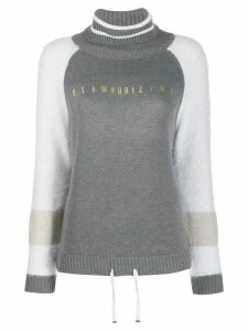 LIU JO 'Glamourising' roll-neck jumper - Grey