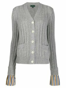 Jejia striped cuffs cardigan - Grey