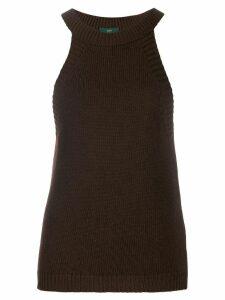 Jejia ribbed-knit tank top - Brown