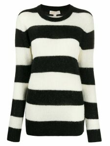Michael Michael Kors striped intarsia jumper - White