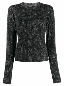 Dolce & Gabbana chevron round neck sweater - Black