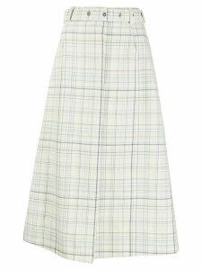 MRZ Gonna check-print skirt - NEUTRALS