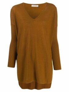 Gentry Portofino cashmere loose-fit jumper - Brown