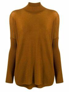 Gentry Portofino cashmere turtleneck jumper - Brown