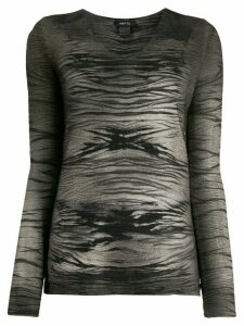 Avant Toi abstract-print jumper - Brown