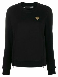 Love Moschino logo plaque sweatshirt - Black