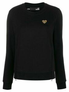 Love Moschino logo plaque sweatshirt - Black