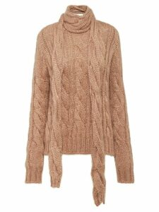 Prada cable-knit mohair sweater - Brown