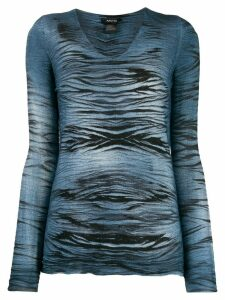 Avant Toi abstract-print jumper - Blue
