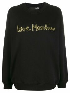Love Moschino contrast logo sweatshirt - Black