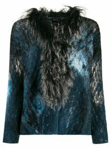 Avant Toi contrasting collar jumper - Blue