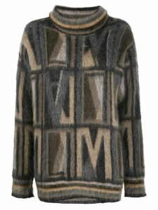 Antonio Marras geometric intarsia jumper - Neutrals