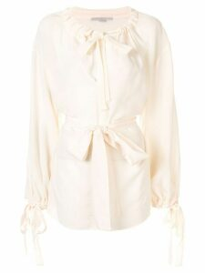 Stella McCartney tie-detail drawstring blouse - White