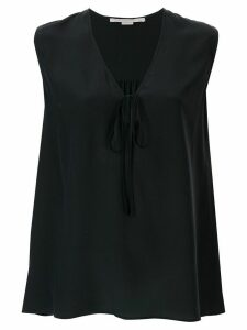 Stella McCartney tie-neck sleeveless blouse - Blue