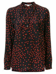 Stella McCartney dotted long-sleeve blouse - Blue