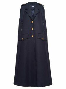 Miu Miu military cape - Blue