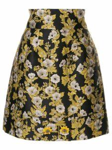 Dolce & Gabbana floral patterned high-waisted skirt - Black