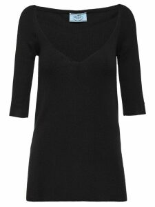 Prada cashmere and silk sweater - Black