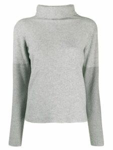Fabiana Filippi slim-fit funnel neck jumper - Grey