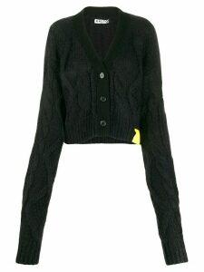 Aalto cropped knit cardigan - Black