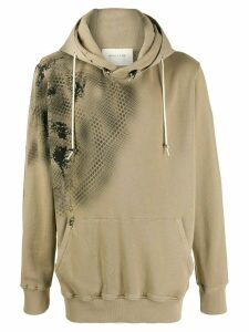1017 ALYX 9SM x Mackintosh scale print hoodie - NEUTRALS