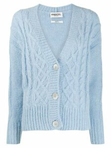 Essentiel Antwerp knitted button cardigan - Blue
