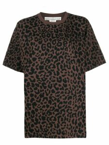 Golden Goose ripped leopard-print T-shirt - Brown