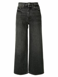 RE/DONE high-rise wide-leg jeans - Grey