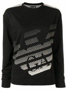 Ea7 Emporio Armani gradient logo sweatshirt - Black